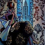 Картины ручной работы. Ярмарка Мастеров - ручная работа Эмпайр Стейт Билдинг -Авторская картина маслом ручной работы на холсте. Handmade.