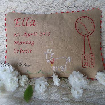 Для дома и интерьера ручной работы. Ярмарка Мастеров - ручная работа Подушка-метрика для новорожденного. Handmade.