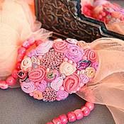 """Украшения ручной работы. Ярмарка Мастеров - ручная работа брошь """"Ягодная"""" розово-коралловая, с  кварцем. Handmade."""