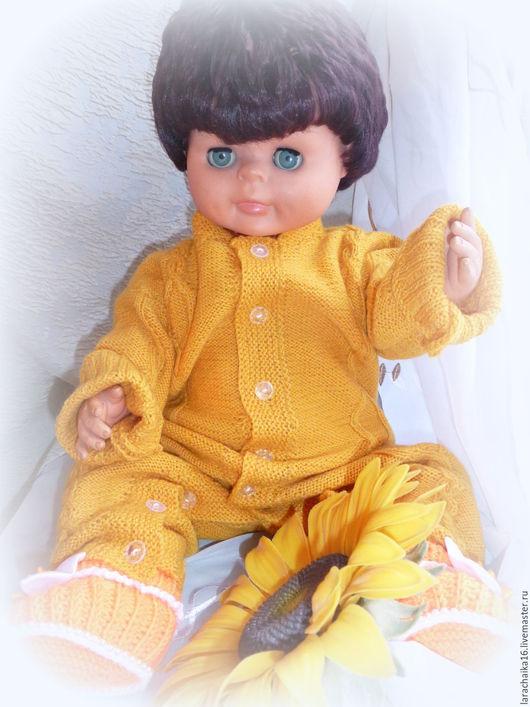 """Одежда ручной работы. Ярмарка Мастеров - ручная работа. Купить Детский вязаный комбинезон """"Мимозка"""". Handmade. Желтый, кофточка шерстяная"""