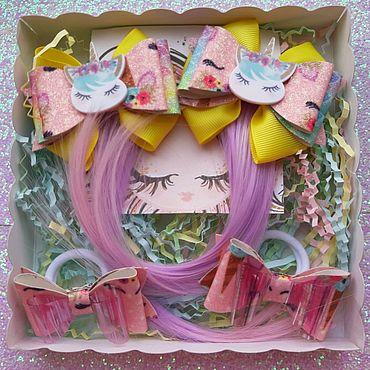 Товары для малышей ручной работы. Ярмарка Мастеров - ручная работа Подарочный набор резинок для волос. Handmade.