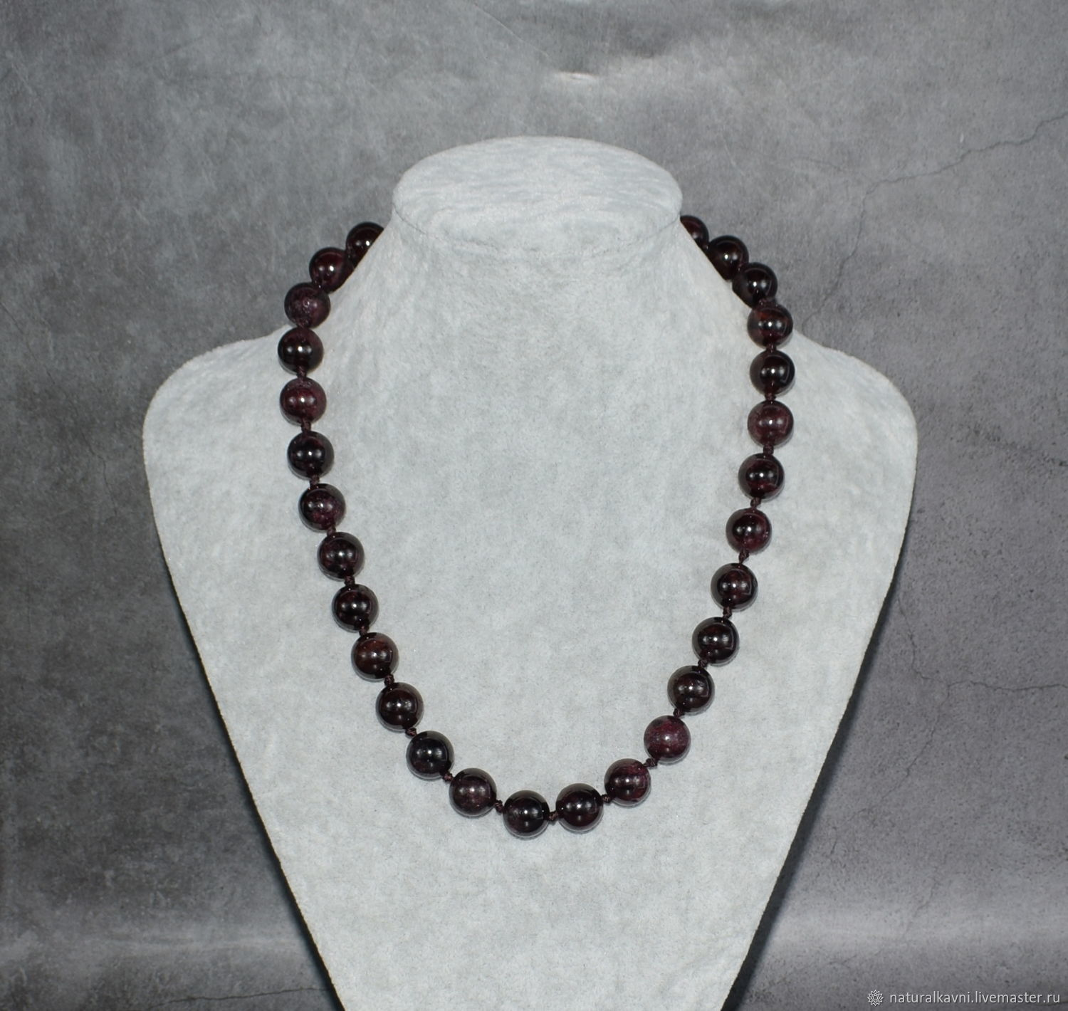 Large beads made of natural garnet stone, Beads2, Moscow,  Фото №1