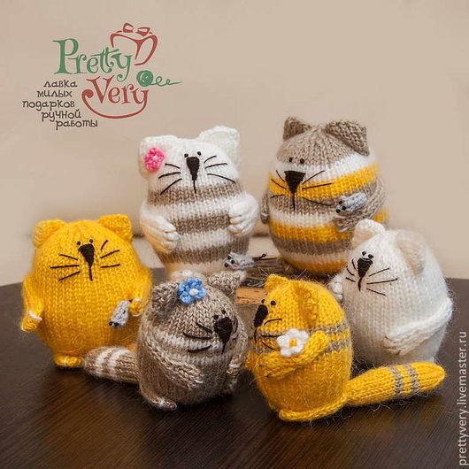 Игрушки животные, ручной работы. Ярмарка Мастеров - ручная работа. Купить Коты-жруны. Handmade. Коты и кошки, игрушка, сувенир