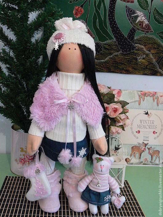 Человечки ручной работы. Ярмарка Мастеров - ручная работа. Купить Текстильная кукла Синди. Handmade. Розовый, бело-розовый, флис