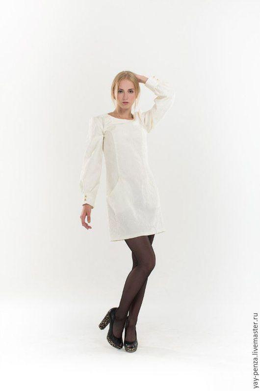 Платья ручной работы. Ярмарка Мастеров - ручная работа. Купить Платье Арт. 1342. Handmade. Белый, черный
