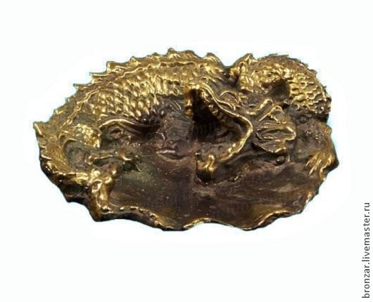 Подарочные наборы ручной работы. Ярмарка Мастеров - ручная работа. Купить Пепельница дракон из бронзы. Handmade. Разноцветный, Литье, бронза