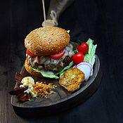 Для дома и интерьера handmade. Livemaster - original item Board for the filing of a Burger and steak