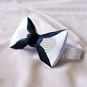 Аксессуары handmade. Livemaster - original item White bow tie with duck and pheasant feathers. Handmade.