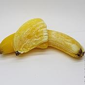 Мыло Банан очищеный 3D, сувенирное мыло ручной работы