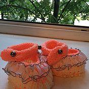 Работы для детей, ручной работы. Ярмарка Мастеров - ручная работа Пинетки для новорожденного. Handmade.
