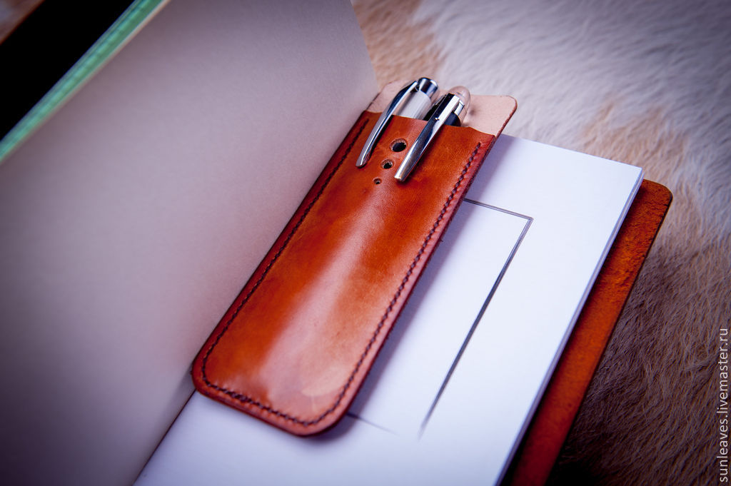 Case for pens made of genuine leather ' Business', Canisters, St. Petersburg,  Фото №1