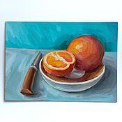"""Картины ручной работы. Ярмарка Мастеров - ручная работа """"Красный апельсин"""". Handmade."""