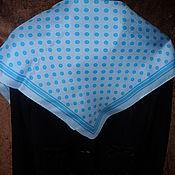 Vintage accessories handmade. Livemaster - original item Handkerchief ,Peas,CODELLO,100% silk,Germany. Handmade.