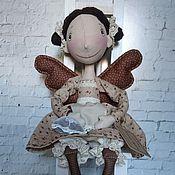 Куклы и игрушки ручной работы. Ярмарка Мастеров - ручная работа Интерьерная текстильная кукла Фейка кофейная. Handmade.