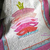 """Для дома и интерьера ручной работы. Ярмарка Мастеров - ручная работа Детское одеяло """"Принцесса на горошине"""" в розовом. Handmade."""