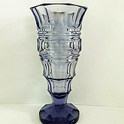 Винтаж handmade. Livemaster - original item Moser vase Moser amethyst glass Czechoslovakia 1940. Handmade.