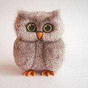 Куклы и игрушки handmade. Livemaster - original item Owl (toy made of wool). Handmade.