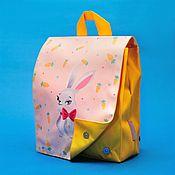 Работы для детей, ручной работы. Ярмарка Мастеров - ручная работа Рюкзачок детский с принтом Зайка. Handmade.