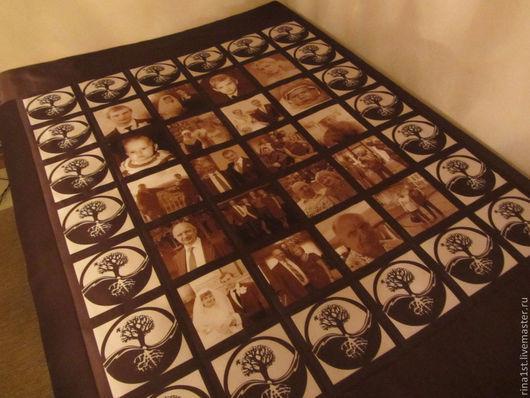 """Персональные подарки ручной работы. Ярмарка Мастеров - ручная работа. Купить покрывало с принтом """"семейное дерево 2"""". Handmade. Принт"""