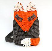 Рюкзаки ручной работы. Ярмарка Мастеров - ручная работа Рюкзак вязаный Лиса из трикотажной пряжи. Handmade.