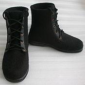 Обувь ручной работы handmade. Livemaster - original item Shoes felted Black unisex. Handmade.