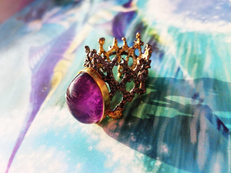 Ring 'Coral reef' with amethyst, Rings, Novaya Usman,  Фото №1