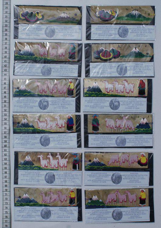 Закладки для книг ручной работы. Ярмарка Мастеров - ручная работа. Купить Закладки для книг с яркими индейскими рисунками на коже. Handmade.