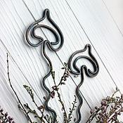 Украшения ручной работы. Ярмарка Мастеров - ручная работа Грибочки из кочки медные шпильки для волос. Handmade.
