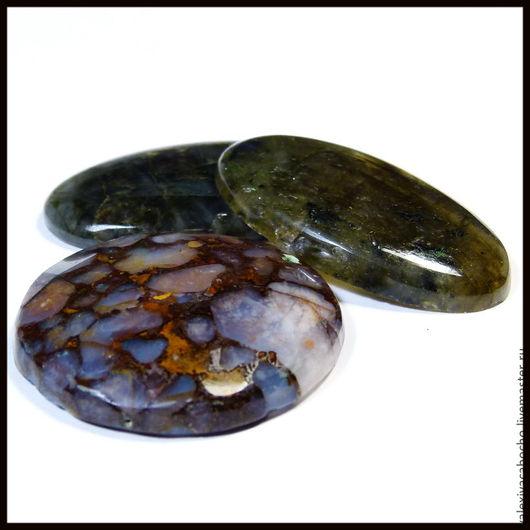 Для украшений ручной работы. Ярмарка Мастеров - ручная работа. Купить Кабошоны натуральный камень опал , лабрадорит. Handmade. Кабошон