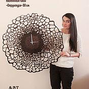 """Для дома и интерьера handmade. Livemaster - original item Настенные часы """"Структура"""" 85 см. Handmade."""