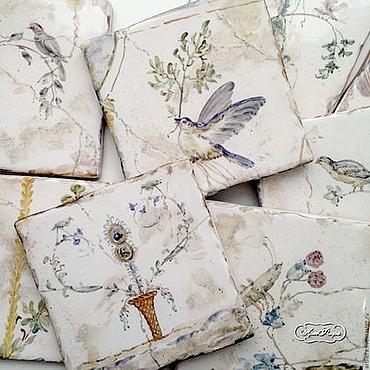 Diseño y publicidad manualidades. Livemaster - hecho a mano Painting tile Murals. Handmade.