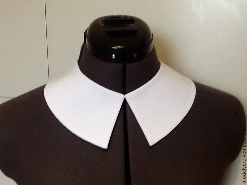 Removable collar/ white crepe, Collars, Moscow,  Фото №1