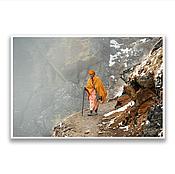 """Картины и панно ручной работы. Ярмарка Мастеров - ручная работа Фотография на холсте - """"Садху в горах. Непал"""". Handmade."""