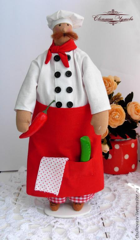 Куклы Тильды ручной работы. Ярмарка Мастеров - ручная работа. Купить Шеф повар. Handmade. Повар, подарок хозяйке