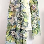 Аксессуары handmade. Livemaster - original item JASMINE - stole batik, hand-painted 100 silk. Handmade.