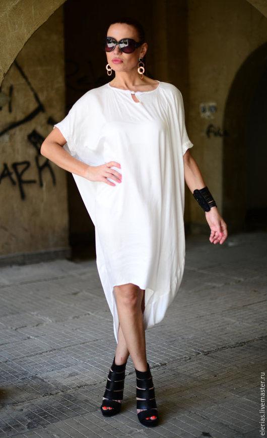 Купить платье. Белое платье. Платье из хлопка. Стильное платье.