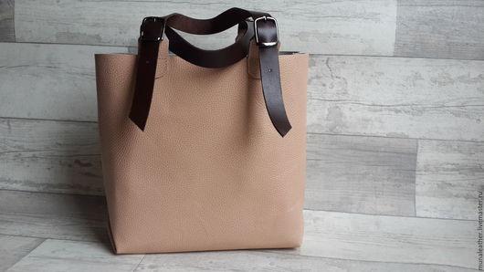 Женские сумки ручной работы. Ярмарка Мастеров - ручная работа. Купить Кожаная сумка-пакет. Женская кожаная сумка.. Handmade.