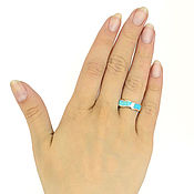 Украшения handmade. Livemaster - original item A turquoise ring. Size 15.5-16. thin ring. Blue ring. Handmade.