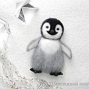 Украшения ручной работы. Ярмарка Мастеров - ручная работа Брошь Пингвинёнок Лоло пингвин валяный из шерсти. Handmade.