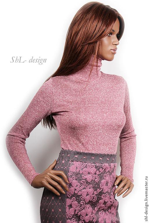 Кофты и свитера ручной работы. Ярмарка Мастеров - ручная работа. Купить Водолазка /темно-розовый меланж. Handmade. Розовый, водолазка