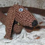 Подарки к праздникам handmade. Livemaster - original item DACHSHUND crochet toy Tosya 60 cm. Handmade.