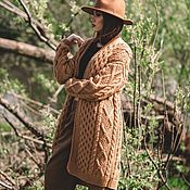 Одежда handmade. Livemaster - original item cardigans: Handmade camel cardigan oversize size. Handmade.
