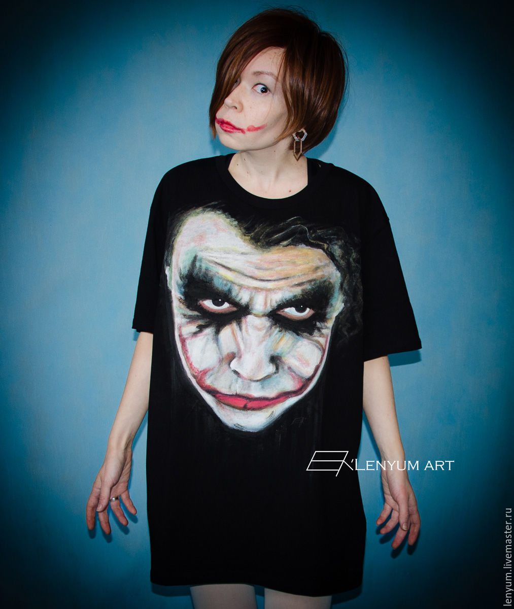 T-shirt Joker black, T-shirts and undershirts for men, Moscow,  Фото №1