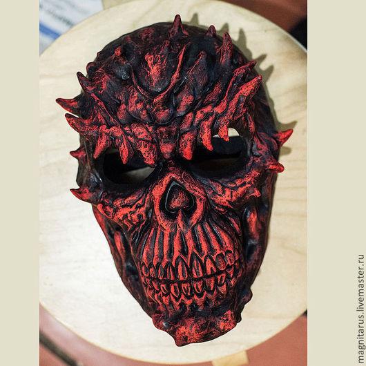 Готика ручной работы. Ярмарка Мастеров - ручная работа. Купить Маска Красный череп. Handmade. Ярко-красный, пластик