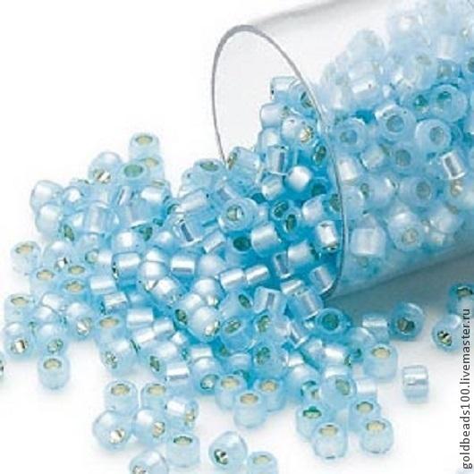 Для украшений ручной работы. Ярмарка Мастеров - ручная работа. Купить 10 ГР MIYUKI DELICA 11/0 DB628 silver-lined opal light blu. Handmade.