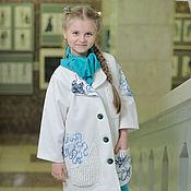 Работы для детей, ручной работы. Ярмарка Мастеров - ручная работа Летнее пальто  для девочки Жемчужина моря. Handmade.