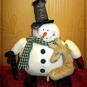 Подарки к праздникам ручной работы. Ярмарка Мастеров - ручная работа Снеговик в цилиндре). Handmade.