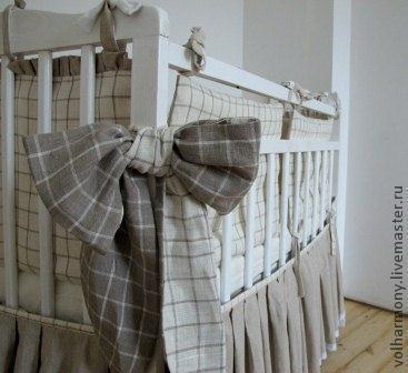 Пледы и одеяла ручной работы. Ярмарка Мастеров - ручная работа. Купить Набор постельного белья для детской кроватки. Handmade. балдахин