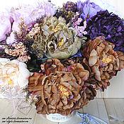 """Цветы искусственные ручной работы. Ярмарка Мастеров - ручная работа Букет """"Пионы шелковые большие"""". Handmade."""