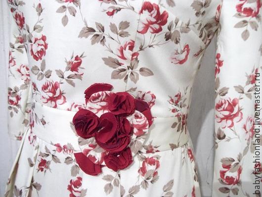 Платья ручной работы. Ярмарка Мастеров - ручная работа. Купить Платье из хлопка в пол Rose Garden. Handmade. Кремовый, платье